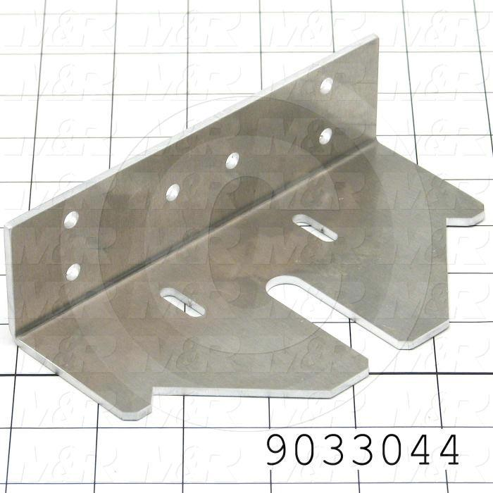Fabricated Parts, Lamp Adjustment Bracket, 6.13 in. Length, 3.44 in. Width, 1.75 in. Height, 1/8 in. Thickness