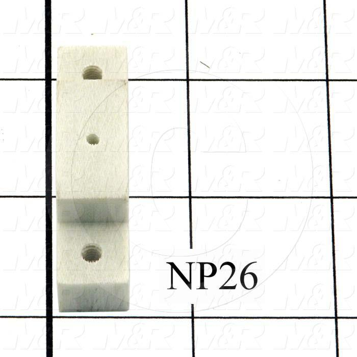 Fabricated Parts, Lamp Holder Bracket, 2.00 in. Length, 0.50 in. Width, 0.69 in. Height