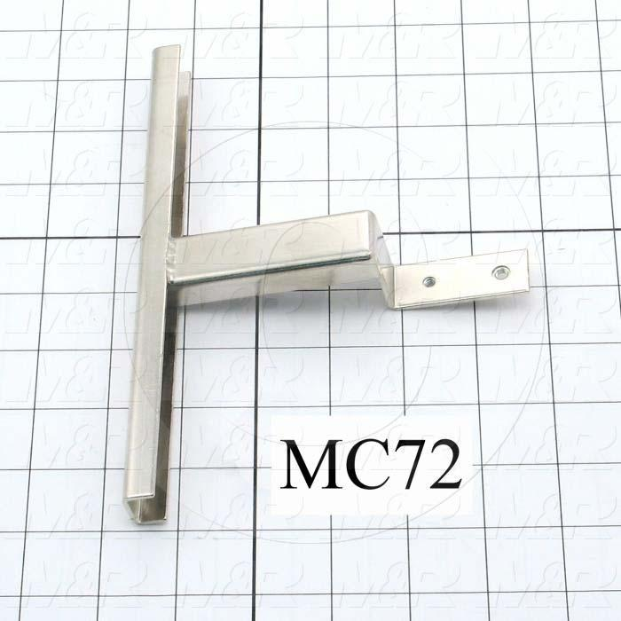 Fabricated Parts, Lamp Holder Bracket Weldment, 5.14 in. Length, 7.88 in. Width, 0.65 in. Height, Used In Shutter Housing Assembly
