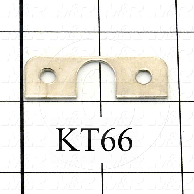 Fabricated Parts, Lamp Holder Spacer, 1.88 in. Length, 0.63 in. Width, 16 GA Thickness, OC50001 Nickel Plating Finish
