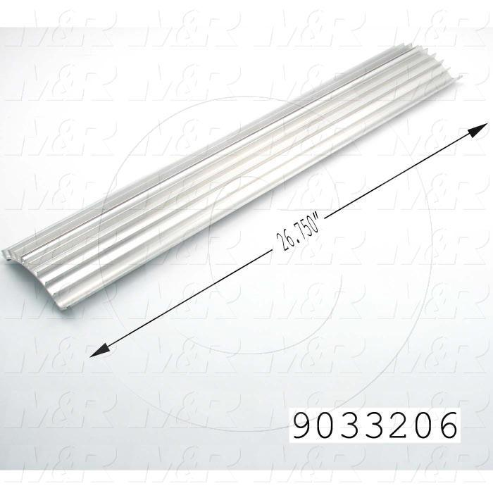 Fabricated Parts, Lamp Reflector, 26.75 in. Length, Use In Vitran V24 Series