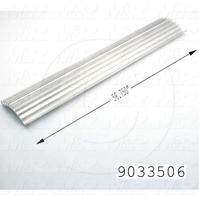Fabricated Parts, Lamp Reflector, 56.75 in. Length, Use In Vitran V54 Series