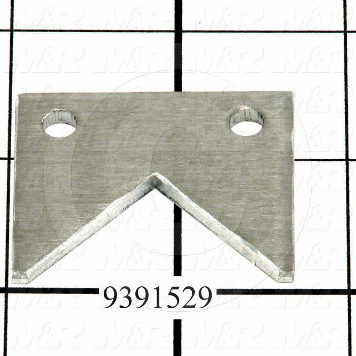 Fabricated Parts, Lamp Support Bracket, 1.50 in. Length, 1.25 in. Width, 0.13 in. Thickness