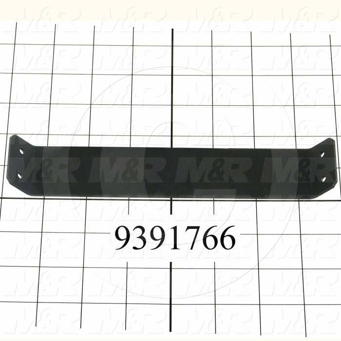 Fabricated Parts, Lamp Wing Reinforc. Bracket, 7.78 in. Length, 1.50 in. Width, 0.55 in. Height, 14 GA Thickness