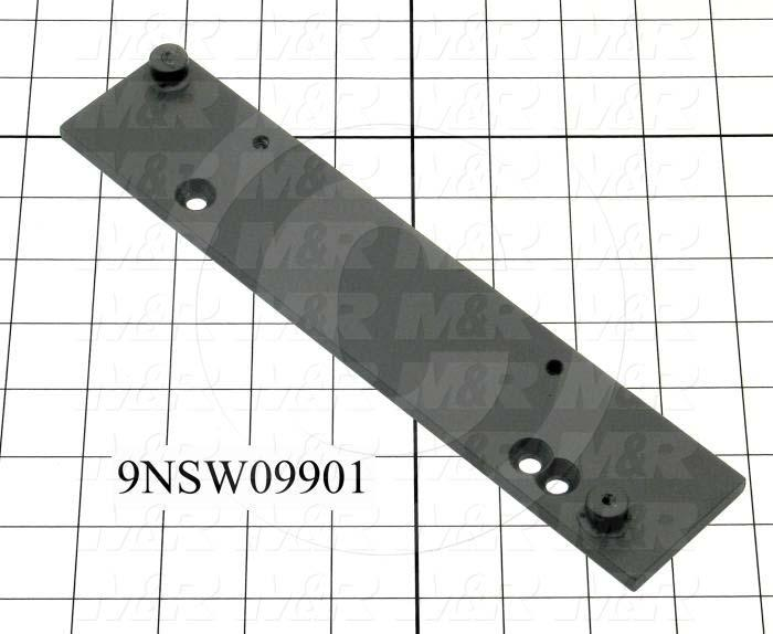 Fabricated Parts, Latch Bracket, Left, 9.88 in. Length, 2.00 in. Width, 0.25 in. Height