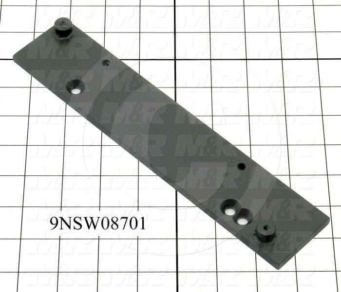 Fabricated Parts, Latch Bracket, Right, 9.88 in. Length, 2.00 in. Width, 0.25 in. Height