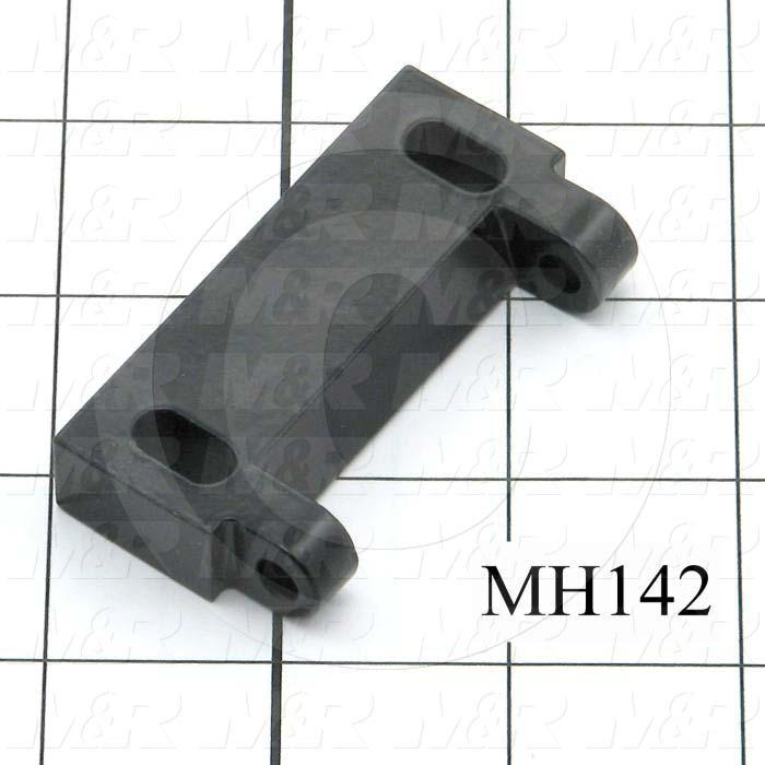 Fabricated Parts, Latch Female Pivot, 2.63 in. Length, 0.50 in. Width, 1.38 in. Height, Black Finish