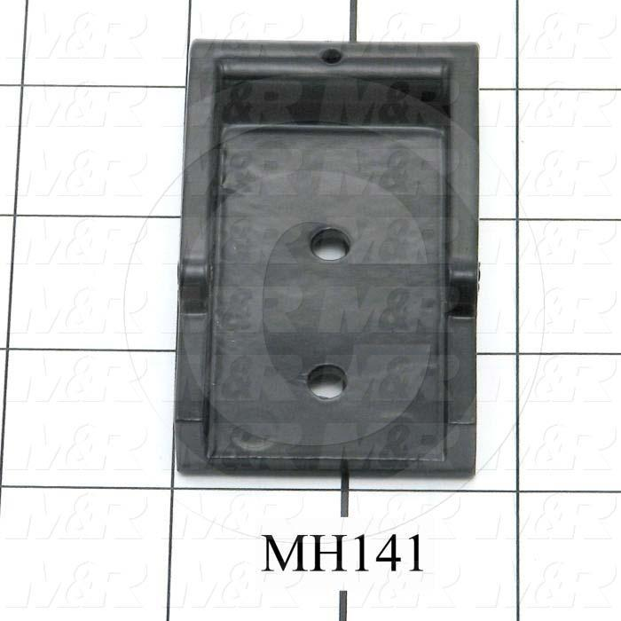 Fabricated Parts, Latch Male Pivot, 3.00 in. Length, 1.75 in. Width, 0.75 in. Thickness, Black Finish
