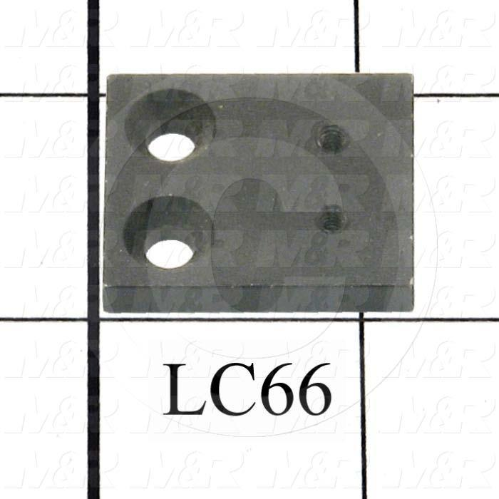 Fabricated Parts, Latch Mount, 1.22 in. Length, 1.00 in. Width, 0.188 in. Thickness, Black Finish