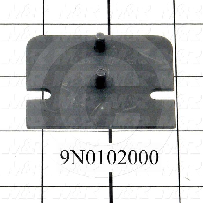 Fabricated Parts, Latch Mount Plate, 2.25 in. Length, 1.75 in. Width, 0.37 in. Height, Do Not Texture And Painted Threads, Satin Black Finish