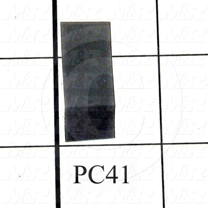 Fabricated Parts, Latch Pad, 1.00 in. Length, 0.63 in. Width, 0.50 in. Height