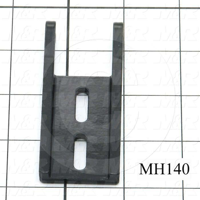 Fabricated Parts, Latch Roller Bracket, 3.25 in. Length, 1.38 in. Width, 0.50 in. Height, Black Finish