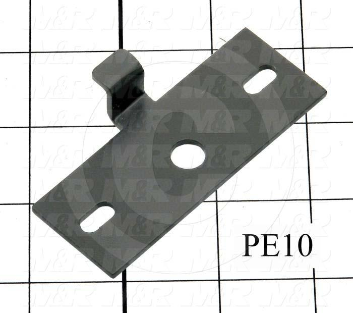 Fabricated Parts, Latch Strike, 3.31 in. Length, 1.25 in. Width, 1.89 in. Height, Black Finish