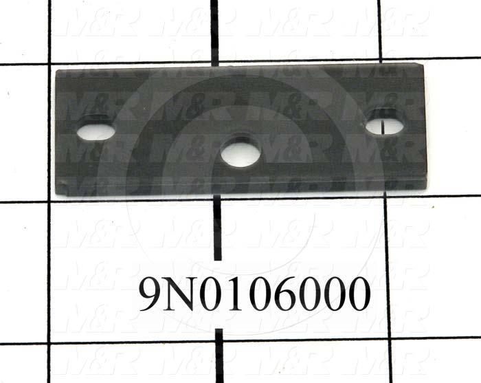 Fabricated Parts, Latch Strike Spacer, 2.25 in. Length, 0.88 in. Width, 12 GA Thickness