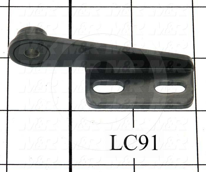 Fabricated Parts, Left Hinge Female Half, 3.00 in. Length, 0.87 in. Width, 0.90 in. Height, 11 GA Thickness