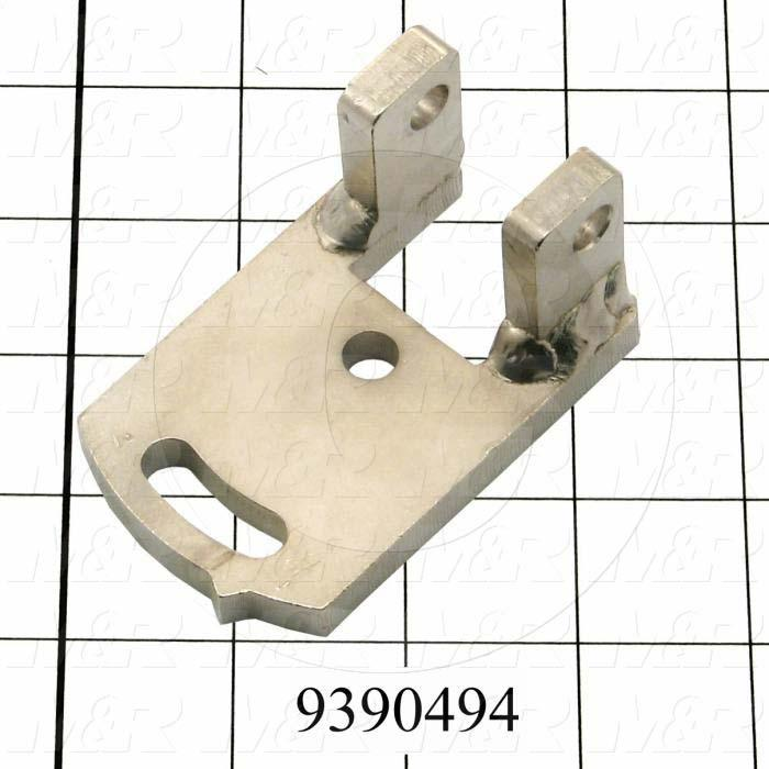 Fabricated Parts, Left Holder Bracket, 2.00 in. Length, 1.56 in. Width, 3.10 in. Height, OC50001 Nickel Plating Finish