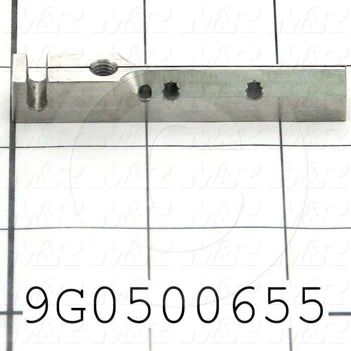 Fabricated Parts, Left Knife Holder, 2.50 in. Length, 0.38 in. Width, 0.38 in. Height, Bag Wicktt & Knife Assembly