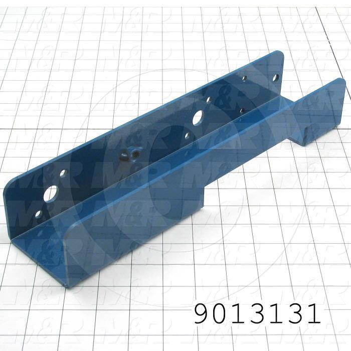 Fabricated Parts, Left Side Screen Holder Air Lock, 13.75 in. Length, 3.25 in. Width, 2.38 in. Height, Painted Blue Finish