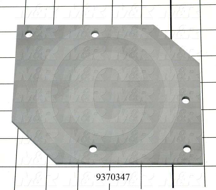 Fabricated Parts, Lever Cylinder Bracket, 6.17 in. Length, 5.13 in. Width, 10 GA Thickness