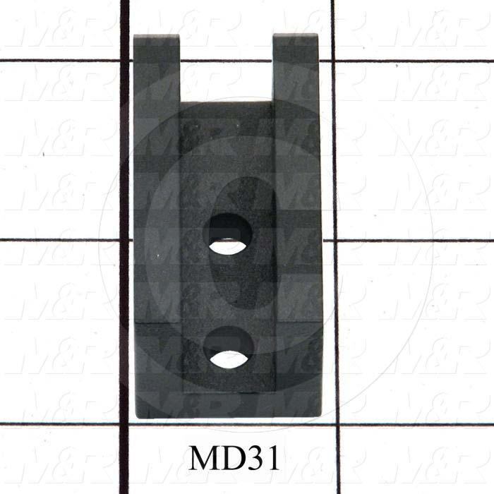 Fabricated Parts, Lift Arm Lower Pivot Bracket, 1.63 in. Length, 0.875 in. Width, 0.875 in. Height, Black Finish