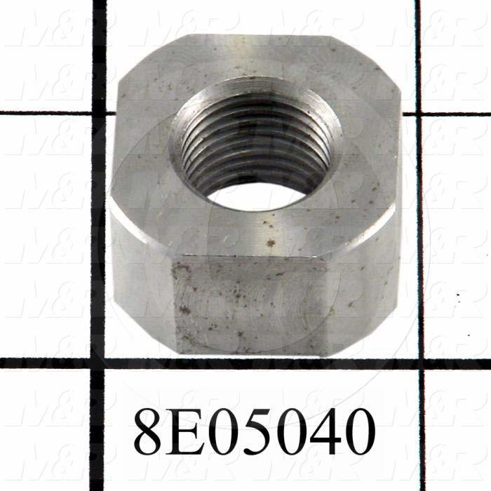 "Fabricated Parts, Lift Lock Nut, 0.50 in. Height, 1.00 in. Diameter, 1/2""-20 UNF-2B Thread Size"