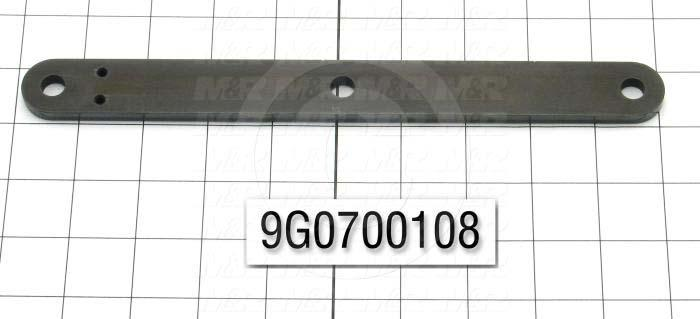 Fabricated Parts, Lifter Arm, 10.00 in. Length, 1.00 in. Width, 1/4 in. Thickness, Black Oxided Finish