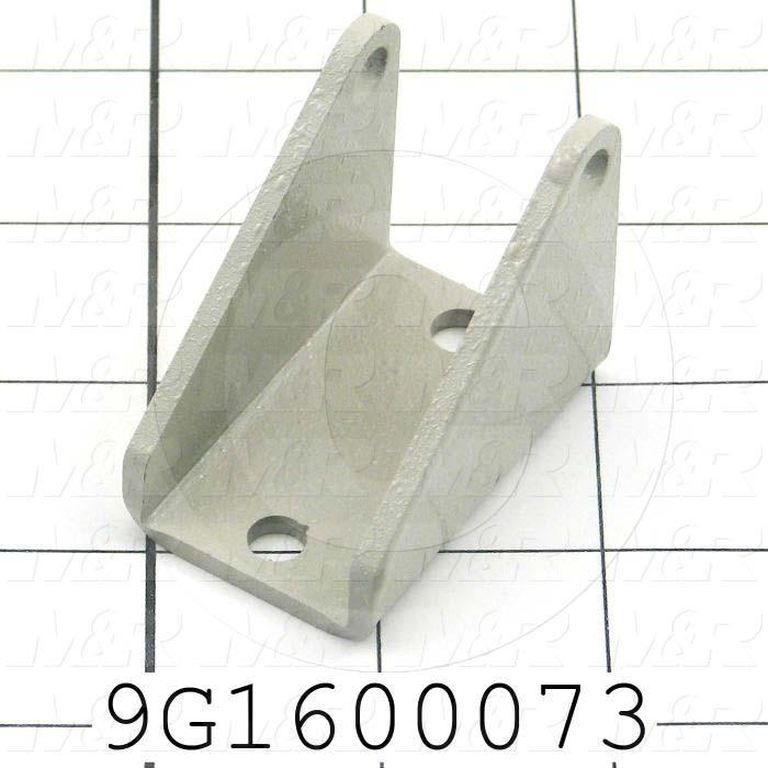 Fabricated Parts, Lifter Support Bracket, 2.00 in. Length, 1.75 in. Width, 1.30 in. Height, 11 GA Thickness