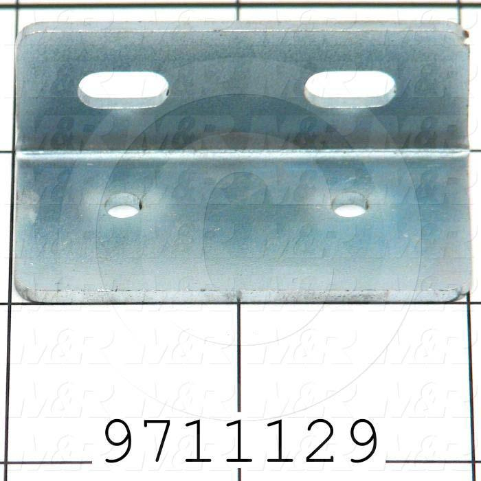 Fabricated Parts, Limit Switch Bracket, 2.00 in. Length, 1.00 in. Width, 0.75 in. Height, OC50005 Zink Plating Finish