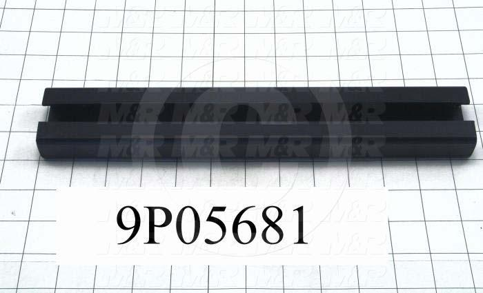 Fabricated Parts, Linear Bearing Rail, 12.50 in. Length, 2.00 in. Width, 1.00 in. Height