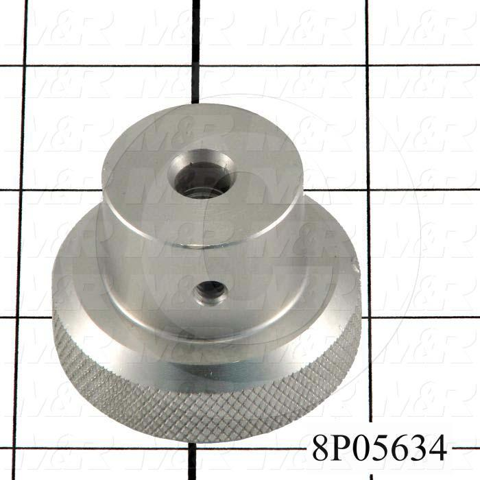 Fabricated Parts, Locating Pin Knob, 1.38 in. Length, 1.75 in. Diameter
