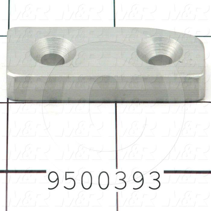 Fabricated Parts, Locator, 1.84 in. Length, 0.75 in. Width, 0.31 in. Thickness, Left Side