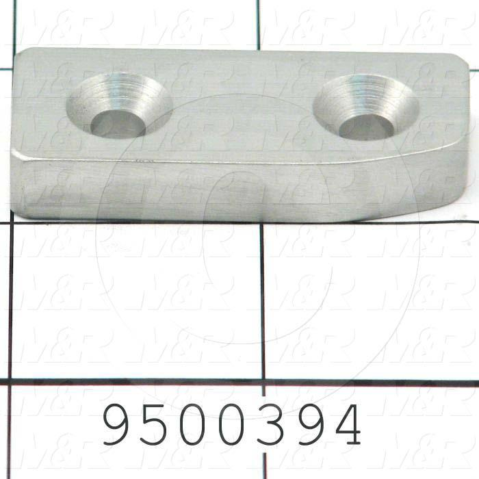 Fabricated Parts, Locator, 1.84 in. Length, 0.75 in. Width, 0.38 in. Thickness, Right Side
