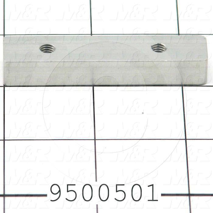 Fabricated Parts, Locator, 2.30 in. Length, 0.50 in. Width, 0.35 in. Height
