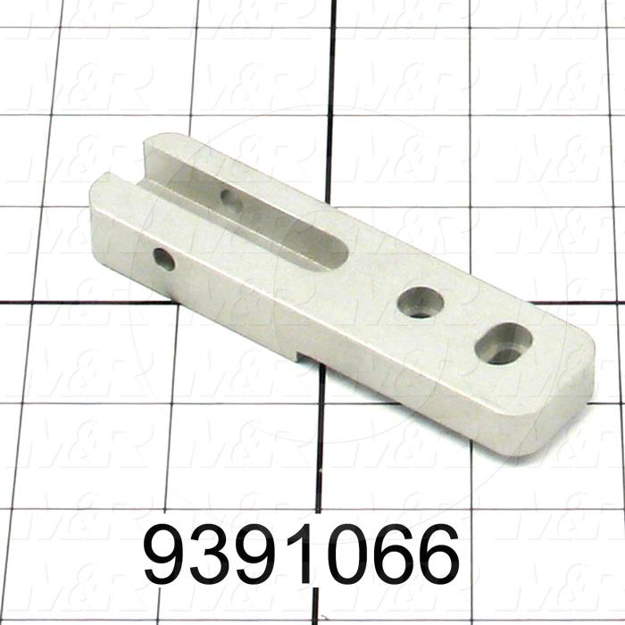 Fabricated Parts, Locator Pivot Base - Center, 3.80 in. Length, 1.00 in. Width, 0.50 in. Height, Clear Anodized Finish