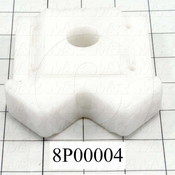 Fabricated Parts, Locator Plate, 4.00 in. Length, 3.63 in. Width, 1.00 in. Thickness