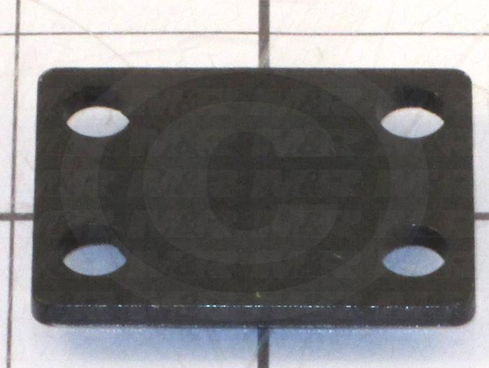 Fabricated Parts, Lock Clamp Spacer Plate, 1.75 in. Length, 1.31 in. Width, 11 GA Thickness