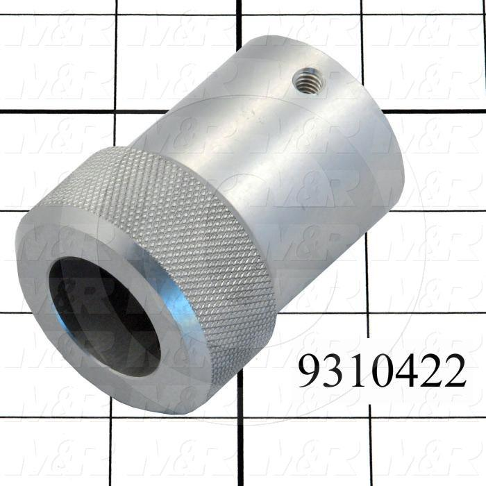 Fabricated Parts, Lock Knob, 2.63 in. Length, 2.00 in. Diameter