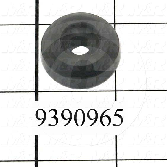 Fabricated Parts, Lock Knob Base, 0.38 in. Length, 1.00 in. Diameter