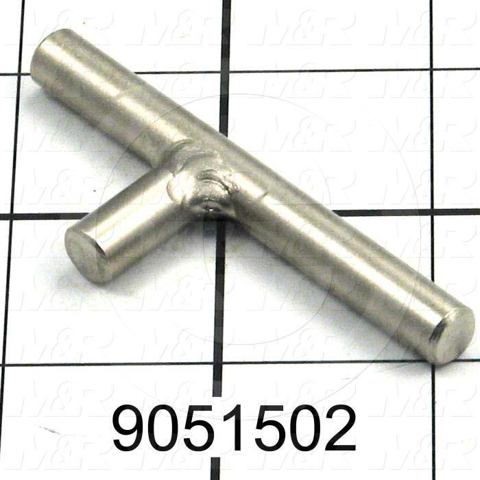 Fabricated Parts, Lock Pin Weldment, 2.79 in. Length, 0.69 in. Width