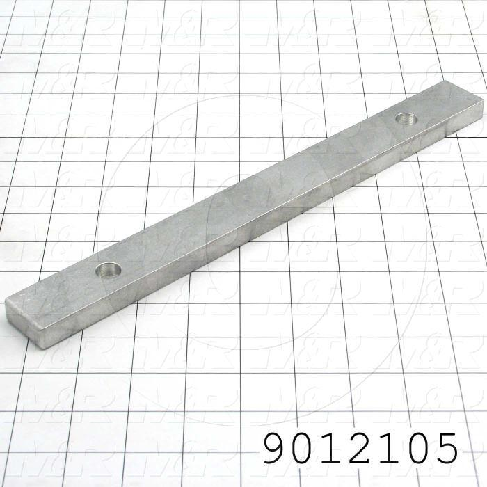 Fabricated Parts, Locking Bar, 11.13 in. Length, 1.25 in. Width, 0.50 in. Thickness, For Back Clamp