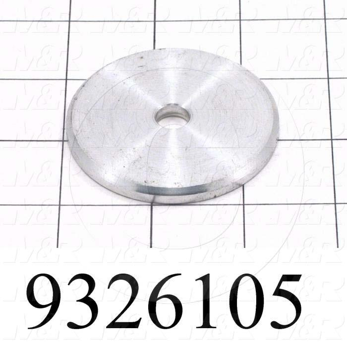 Fabricated Parts, Lockplate, 2.38 in. Diameter, 0.19 in. Thickness