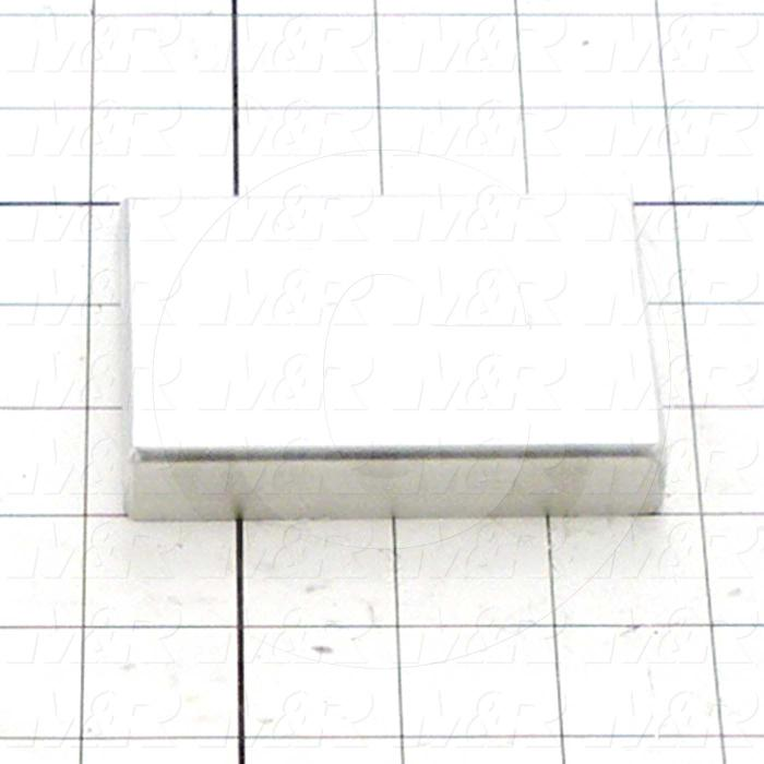 Fabricated Parts, Long Stopper, 3.50 in. Length, 0.50 in. Width