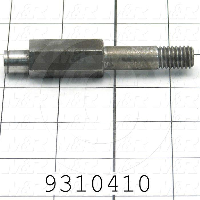 Fabricated Parts, Lower Bearing, 3.44 in. Length, 0.63 in. Width, 0.63 in. Height