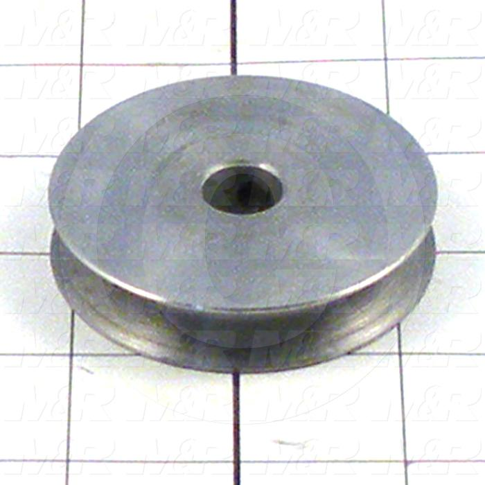 Fabricated Parts, Lower Belt Pulley, 0.50 in. Width, 2.40 in. Diameter
