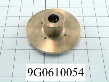 Fabricated Parts, Lower Seal Flange, 1.63 in. Width, 3.94 in. Diameter, Hard Chromium Finish