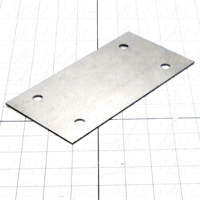 Fabricated Parts, Lower Slide, 7.88 in. Length, 4.00 in. Width