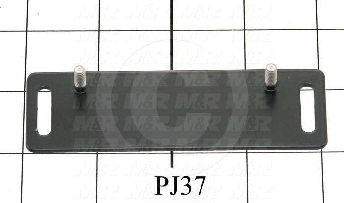 Fabricated Parts, Magnet Mounting Plate, 4.13 in. Length, 1.31 in. Width, 0.063 in. Thickness, Black Finish