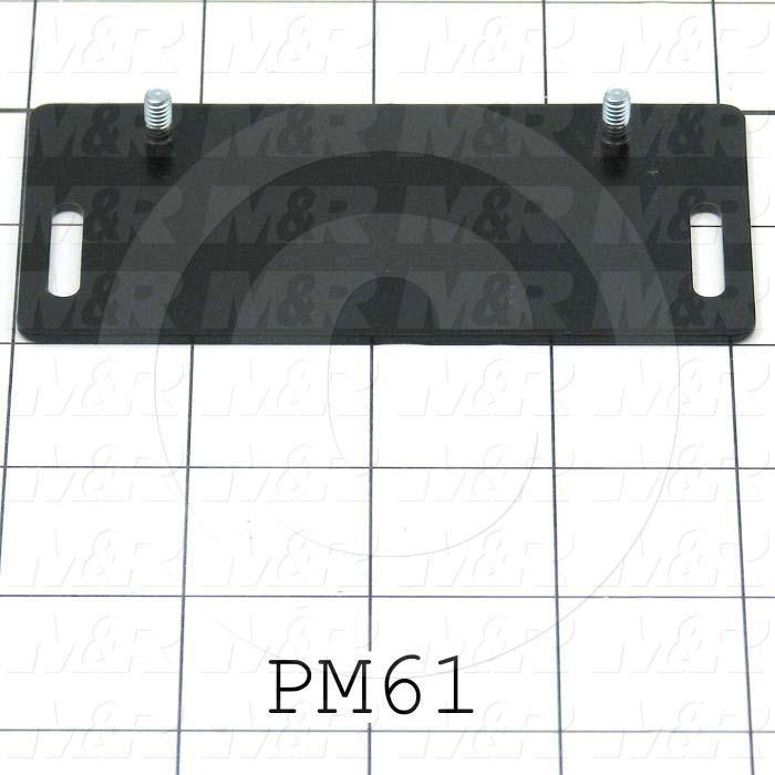 Fabricated Parts, Magnet Mounting Plate, Glass Frame, 4.13 in. Length, 2.00 in. Width, 0.063 in. Thickness, Black Finish