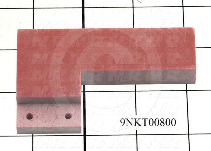 Fabricated Parts, Male Contact Mounting, 3.50 in. Length, 0.50 in. Thickness