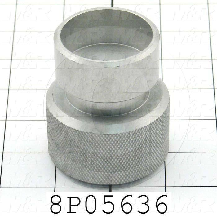 Fabricated Parts, Micro Adjusting  Knob, 2.63 in. Length, 2.00 in. Diameter